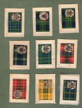 Collectable  Cigarette cards silk Scottish Clan Tartans set of 65  B.D.V. 1922